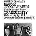 WBCN concert advertisement