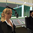 June Peoples and Bill Lichtenstein in The Infinite Mind virtual studios
